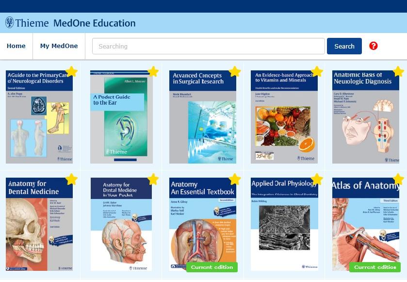 高雄醫學大學圖書資訊處- 〔試用資料庫〕Thieme - MedOne Education 電子書和Thieme Clinical  Collection 臨床電子書(2018)